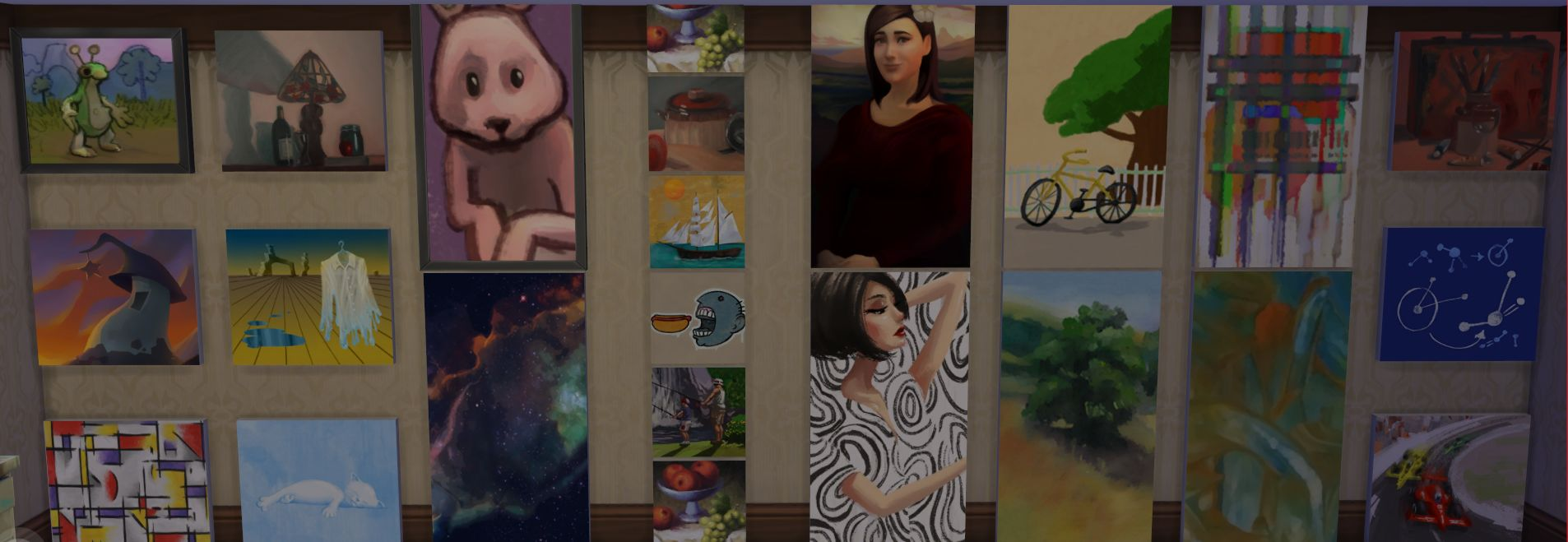 Sims  Pictures To Change Paintings In Easel