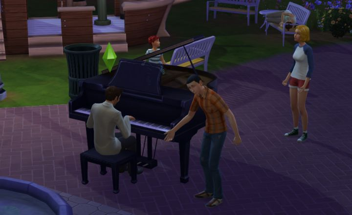 Playing for Tips with the Piano in The Sims 4