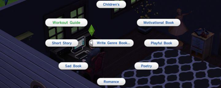 Les Sims 4 Book Genres