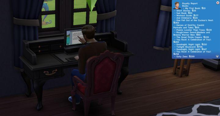 Les royalties du livre Les Sims 4