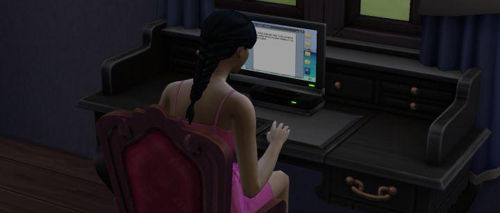 La compétence d'écriture des Sims 4