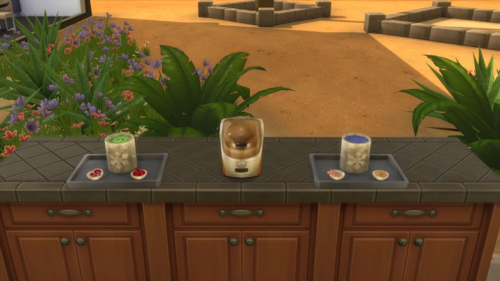Tubs of Ice cream in The Sims 4 Cool Kitchen