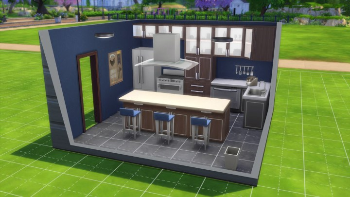 Styled kitchen room in The Sims 4