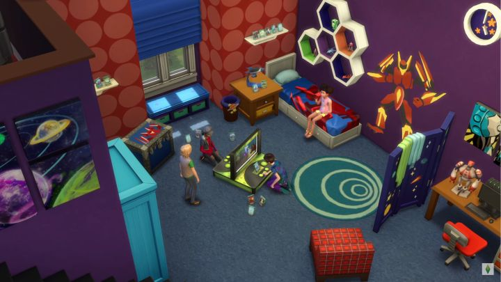 The Sims 4 Kids Room Stuff a male themed bedroom