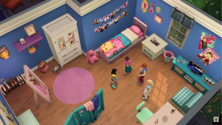 The Sims 4 Kids Room Stuff a girl themed bedroom