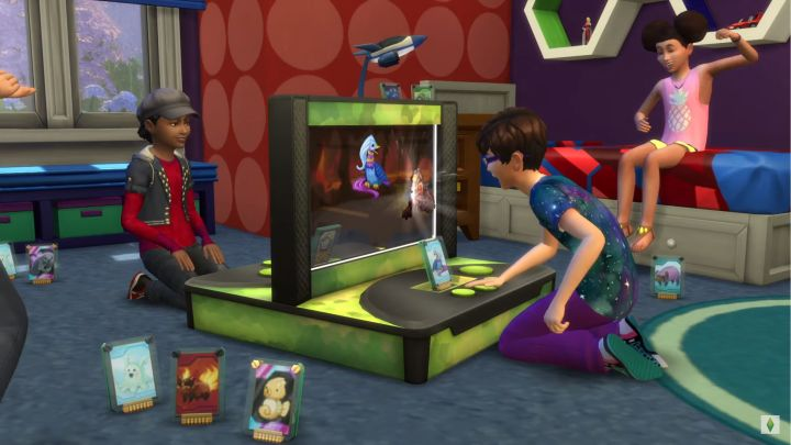 The Sims 4 Kids Room Stuff - the new Voidcritter trading card game