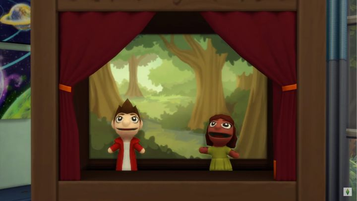 The Sims 4 Kids Room Stuff - puppet shows in the puppet theater
