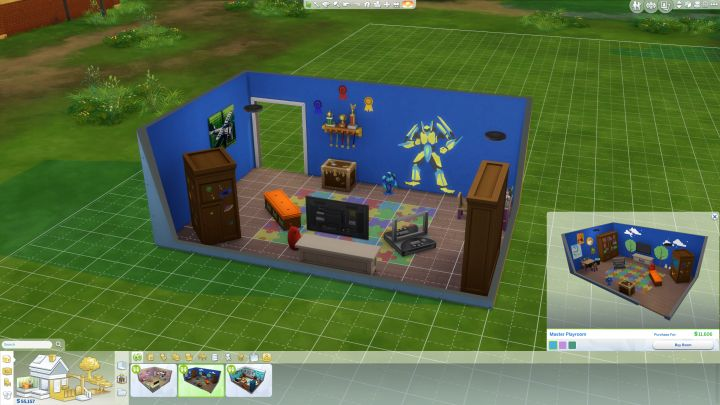 The Sims 4 Kids Room Stuff - a masculine room