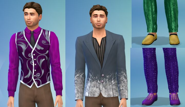 Male Tops and shoes in the Luxury Party Stuff Pack