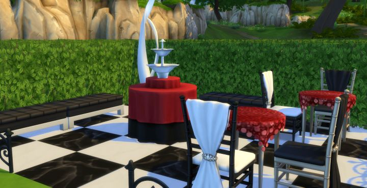 Outdoor styled room in the Luxury Party Stuff Pack