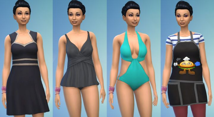 New female outfits in the Perfect Patio Stuff Pack