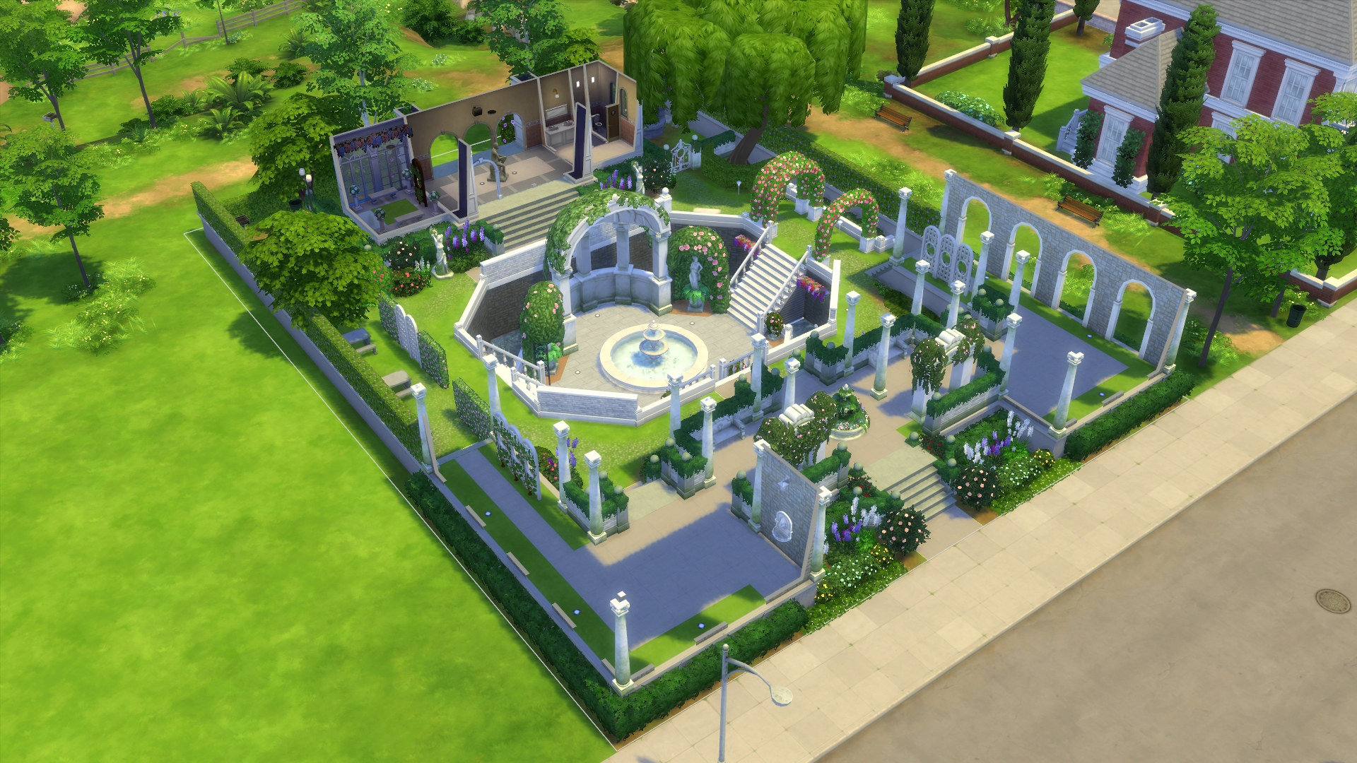 The sims 4 movie hangout stuff pack review for Garden design sims 4