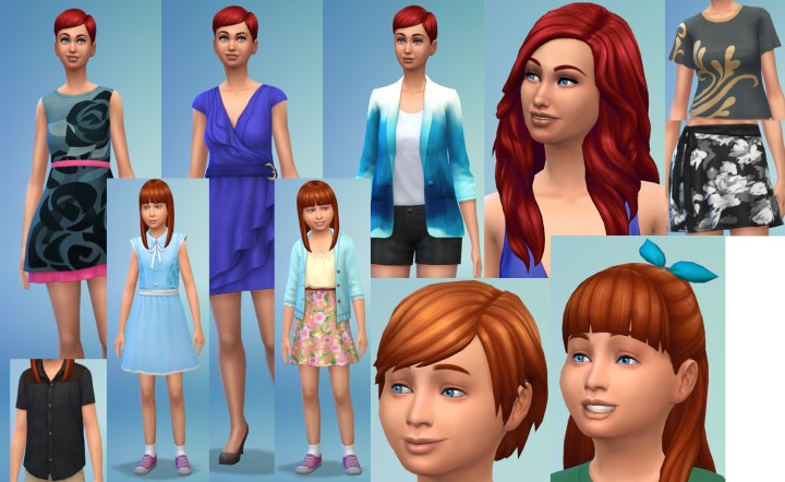 Female Clothing in Sims 4 Romantic Garden
