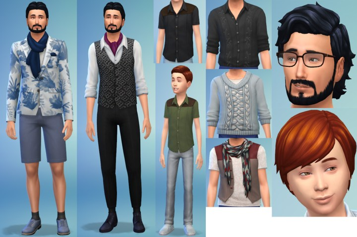 Male clothing in Sims 4 Romantic Garden