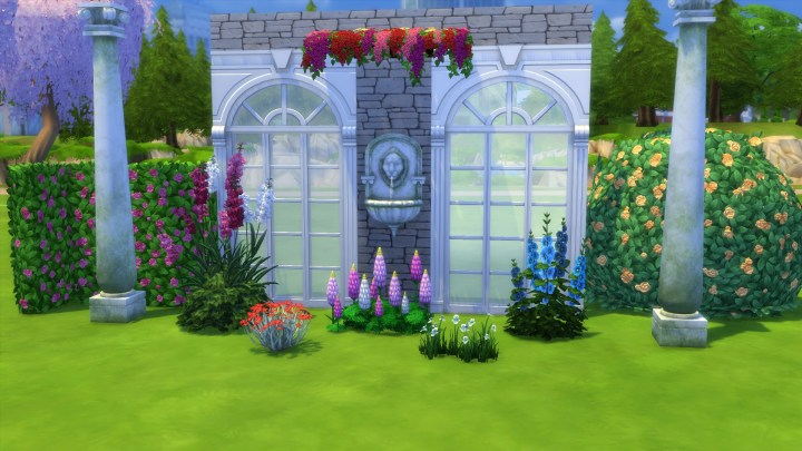 Objects included in The Sims 4 Romantic Garden Stuff