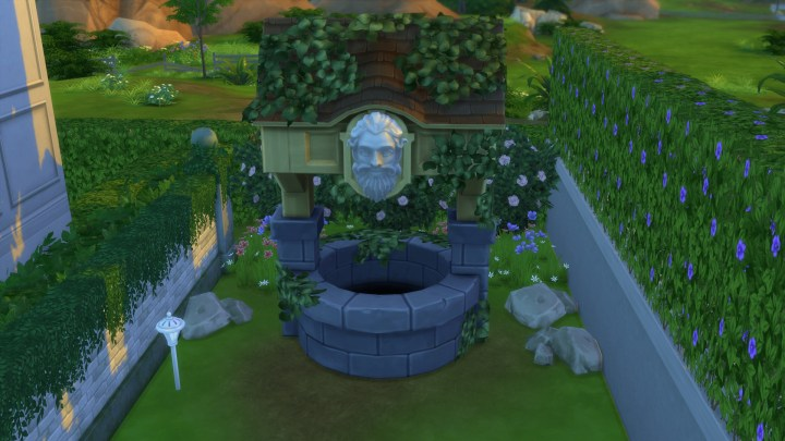 Whispering Wishing Well feature included in The Sims 4 Romantic Garden