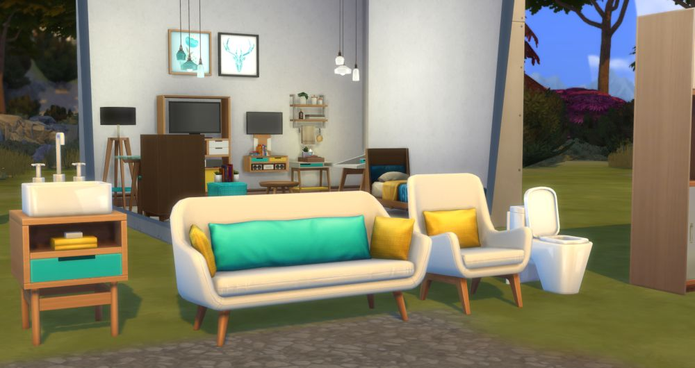 The Sims 4 Tiny Living Stuff - Objects you get with the pack - the new chairs and seating