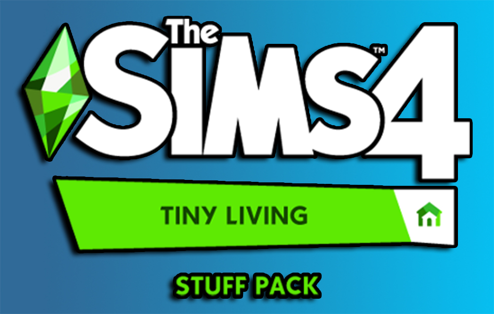 The Sims 4 Tiny Living Stuff Pack Logo and Release Date