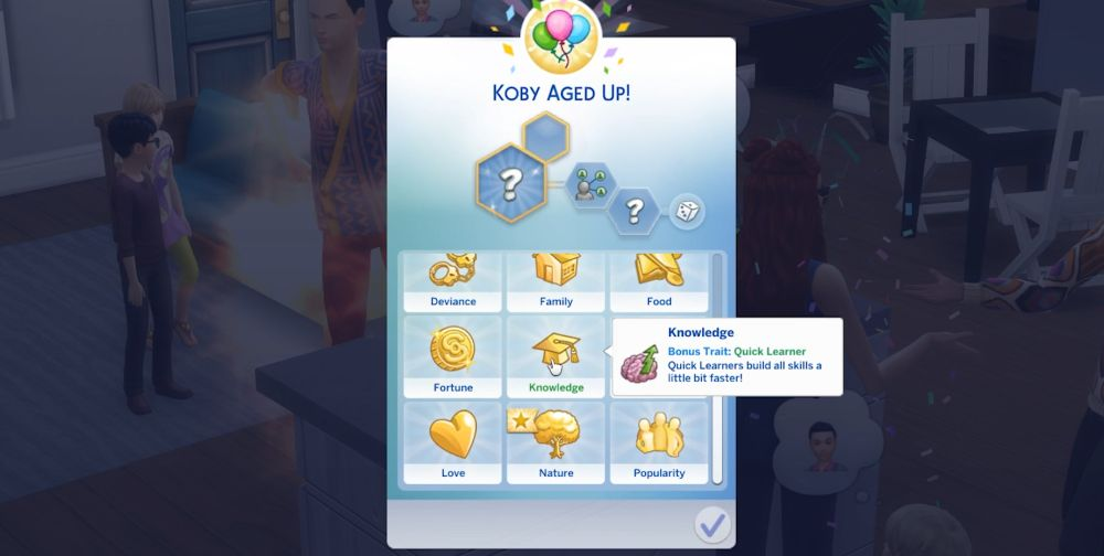 The Sims 4 Super Sim - Picking a good bonus trait for challenge