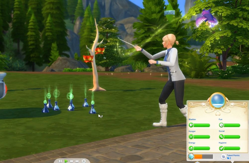 The Sims 4 Super Sim - Duplicating potions of needs as a spellcaster