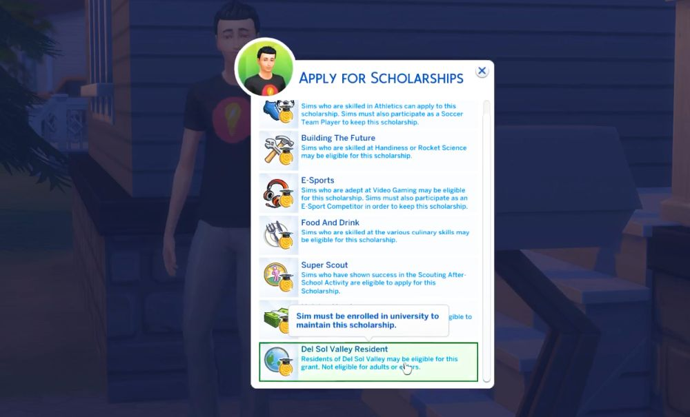 The Sims 4 Super Sim in University