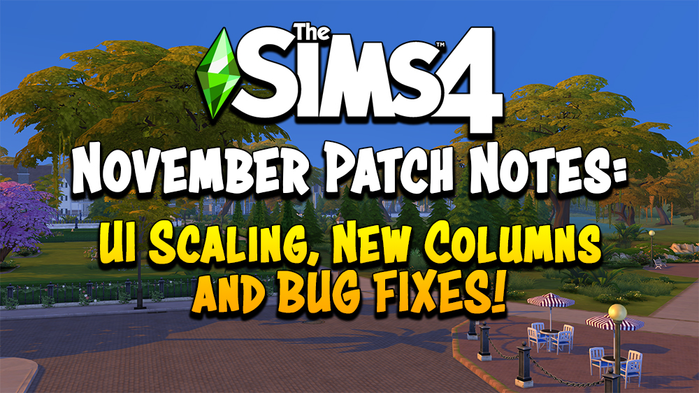 Sims 4 new patch update