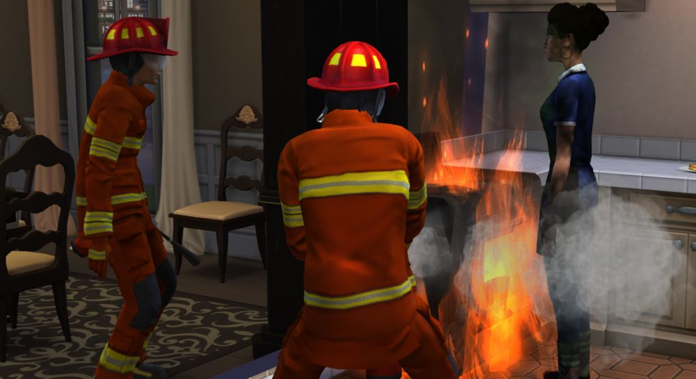 Firemen are added to the Sims 4
