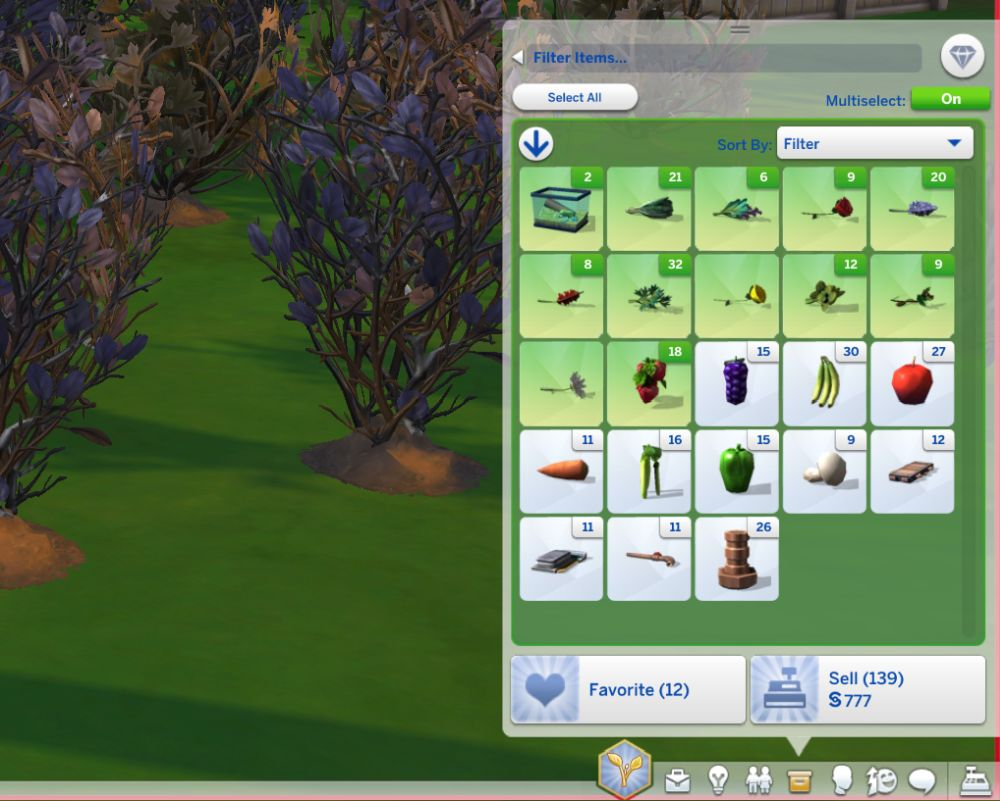 Sell all objects at once in The Sims 4