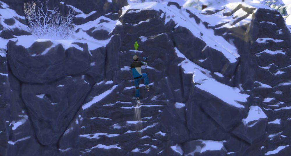 Rock Climbing in The Sims 4 Snowy Escape